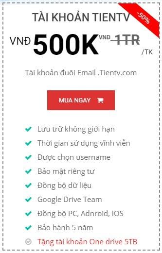 Google Drive Unlimited 5 Nam