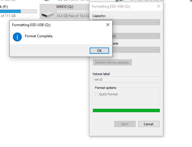 Fortmat USB thành công