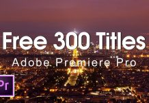 300 Free Animated Titles For Premiere Pro Template Mogrt File